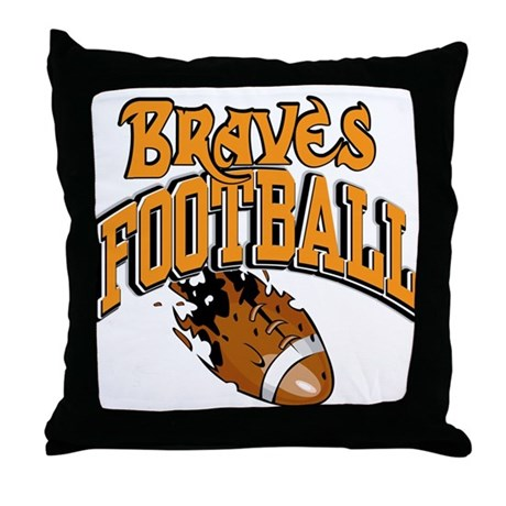 Braves Football Throw Pillow