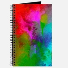 Watercolor Blue Green Red Pink Aqua Journal