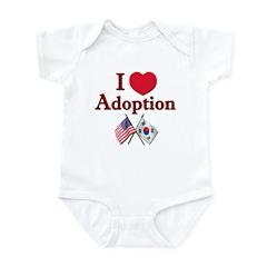 I Love Adoption (Korea/USA) Onesie