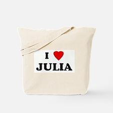 I Love JULIA Tote Bag