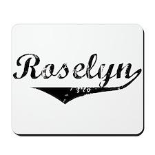 Roselyn Vintage (Black) Mousepad