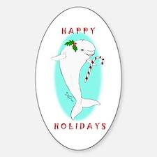 Christmas Beluga Oval Decal