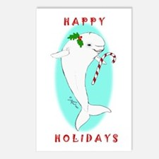 Christmas Beluga Postcards (Package of 8)