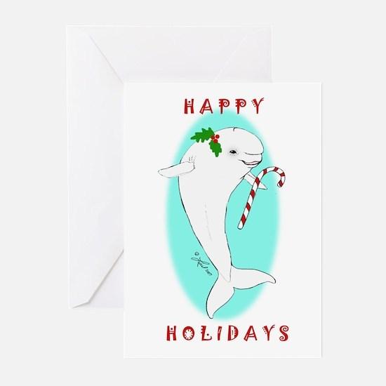 Christmas Beluga Greeting Cards (Pk of 20)