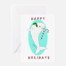 Christmas Beluga Greeting Card