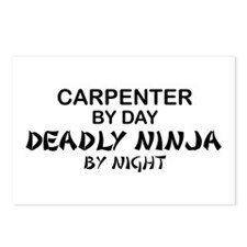 Carpenter Deadly Ninja Postcards (Package of 8)