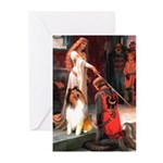 Accolade / Collie (s&w) Greeting Cards (Pk of 10)