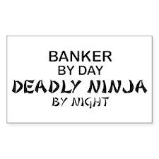 Banker Deadly Ninja Rectangle Decal