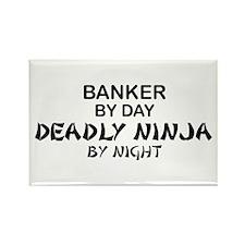 Banker Deadly Ninja Rectangle Magnet