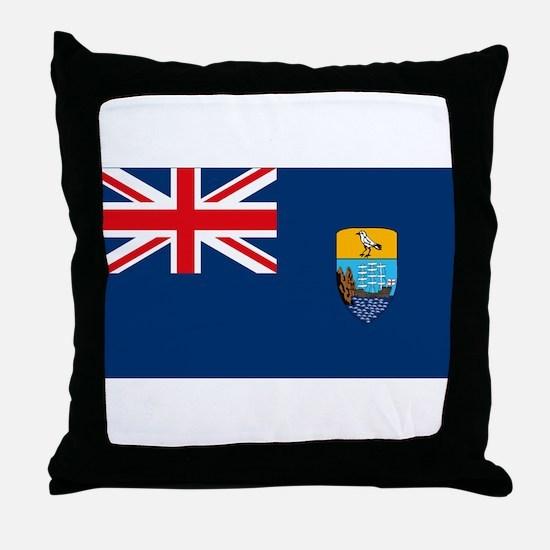 St Helena Flag Throw Pillow