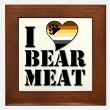 Cute Gay bear Framed Tile