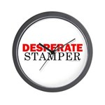 Desperate Stamper Wall Clock