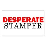 Desperate Stamper Rectangle Sticker