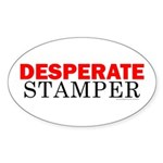 Desperate Stamper Oval Sticker