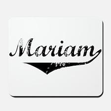Mariam Vintage (Black) Mousepad