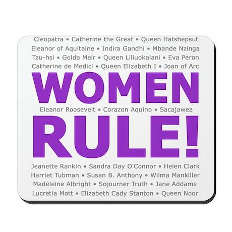 Women Rule Mousepad