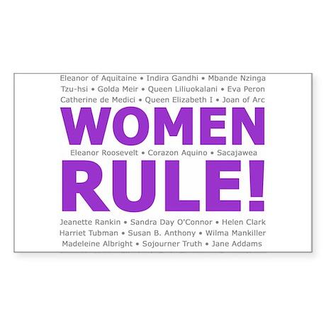 Women Rule Rectangle Sticker