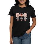 Peace Love Quilt Quilting Women's Dark T-Shirt