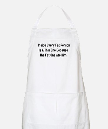 Inside Fat Person BBQ Apron
