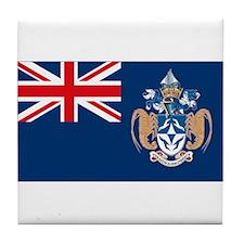 Tristan Da Cunha Flag Tile Coaster