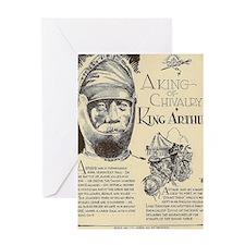 King Arthur Mini Biography Greeting Cards