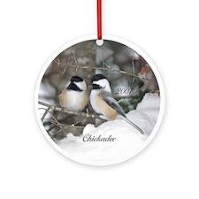 2 Chickadees Ornament (Round)