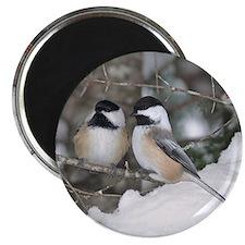 2 Chickadees Magnet