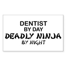 Dentist Deadly Ninja Rectangle Decal