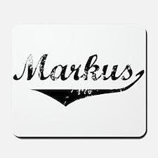 Markus Vintage (Black) Mousepad