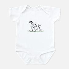 Cute Harlequin dane Infant Bodysuit