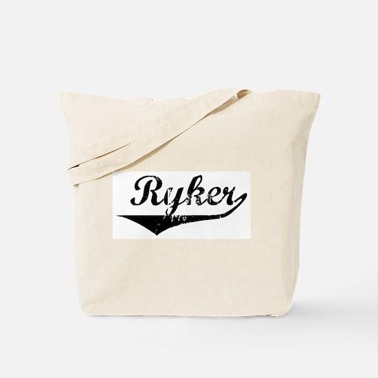 Ryker Vintage (Black) Tote Bag