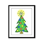 ILY Christmas Tree Framed Panel Print