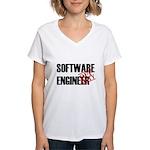 Off Duty Software Engineer Women's V-Neck T-Shirt