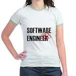 Off Duty Software Engineer Jr. Ringer T-Shirt