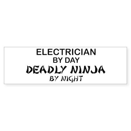 Electrician Deadly Ninja Bumper Sticker