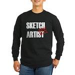 Off Duty Sketch Artist Long Sleeve Dark T-Shirt