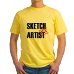 Off Duty Sketch Artist Yellow T-Shirt