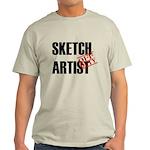 Off Duty Sketch Artist Light T-Shirt
