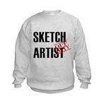 Off Duty Sketch Artist Kids Sweatshirt