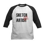 Off Duty Sketch Artist Kids Baseball Jersey