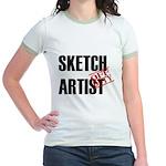 Off Duty Sketch Artist Jr. Ringer T-Shirt