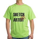 Off Duty Sketch Artist Green T-Shirt