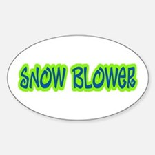 Snow Blower Oval Decal