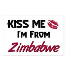 Kiss Me I'm from Zimbabwe Postcards (Package of 8)