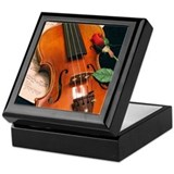 Violinist Square Keepsake Boxes