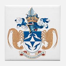Tristan Da Cunha Coat of Arms Tile Coaster