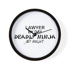 Lawyer Deadly Ninja Wall Clock
