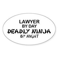 Lawyer Deadly Ninja Oval Decal