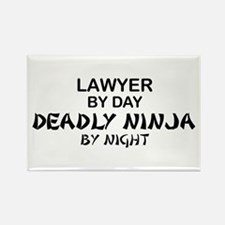 Lawyer Deadly Ninja Rectangle Magnet
