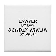 Lawyer Deadly Ninja Tile Coaster